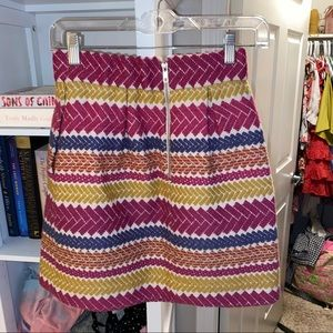 Anthropologie nomad multicolor stripe cotton skirt